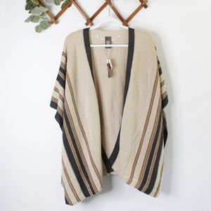 (NWT) Vince Camuto Neutral Stripe Sweater Poncho